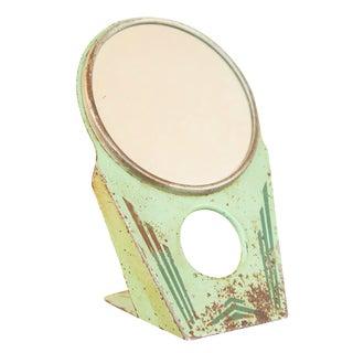 Vintage Art Deco Green Hollywood Mirror