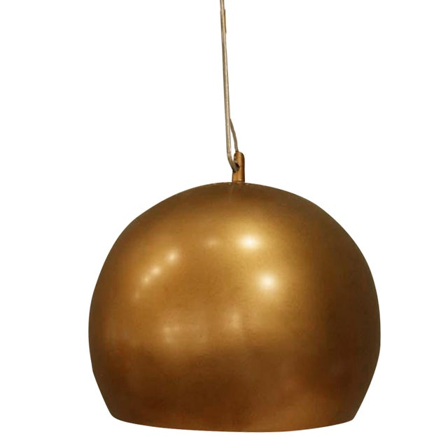 Image of Large Copper Tone Pendant Lamp
