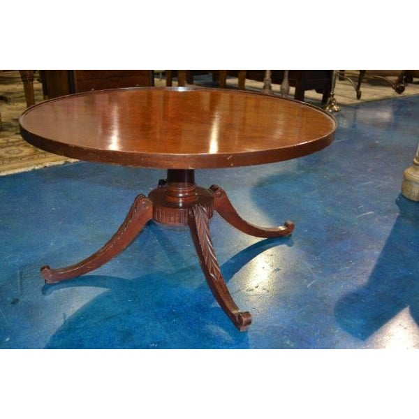 Vintage Mahogany Coffee Table By Mersman Furniture