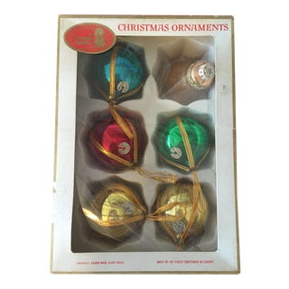 Vintage European Glass Ornaments - Set of 6