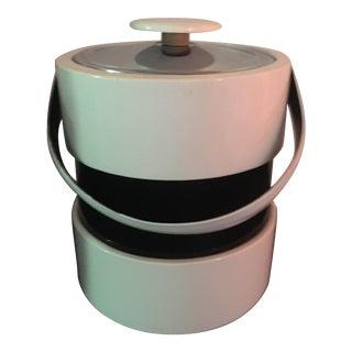 Mid Century Retro Black & White Ice Bucket