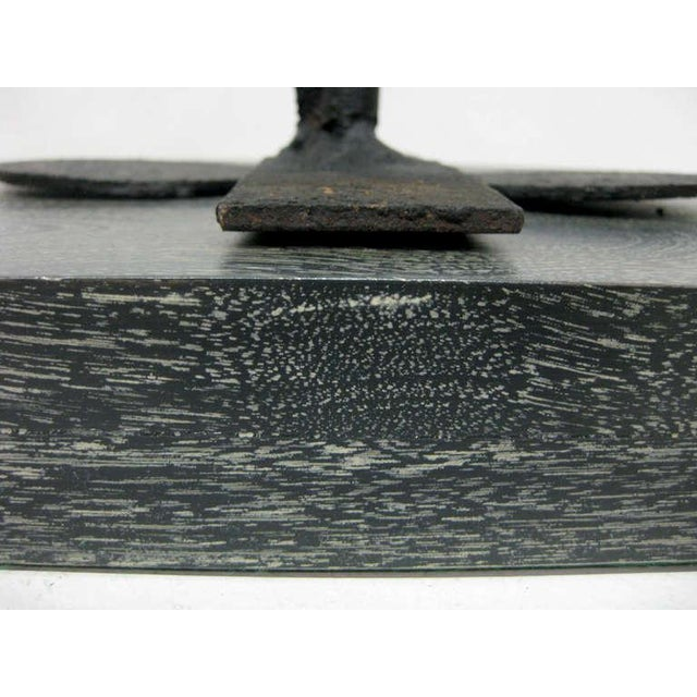 Image of Iron Sculpture on Cerused Wood Base