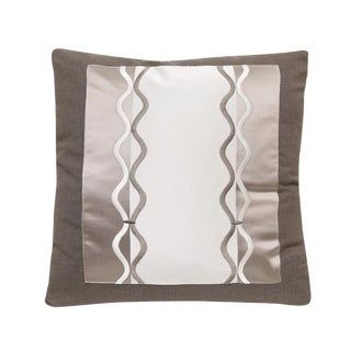 Silk & Satin Pillow With Braid Embroidery