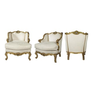 17th C. Louis XV Armchairs - Pair