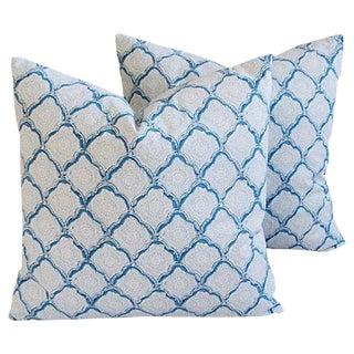 Custom Kravet Woodblock Echo Pillows- A Pair