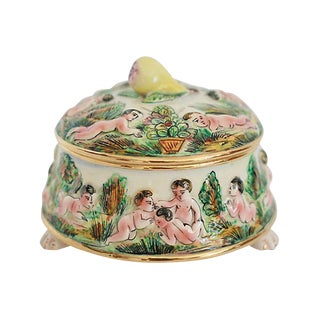Hand-Painted Capodimonte Box