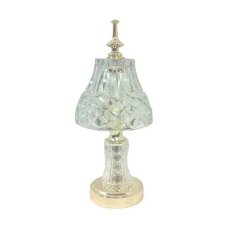 Portuguese Crystal & Brass Accent Lamp