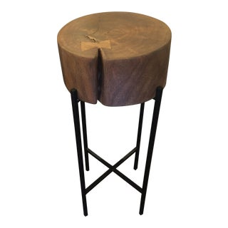 Solid Wood Top Side Table