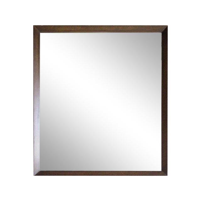 Image of Beveled Wood Framed Mirror