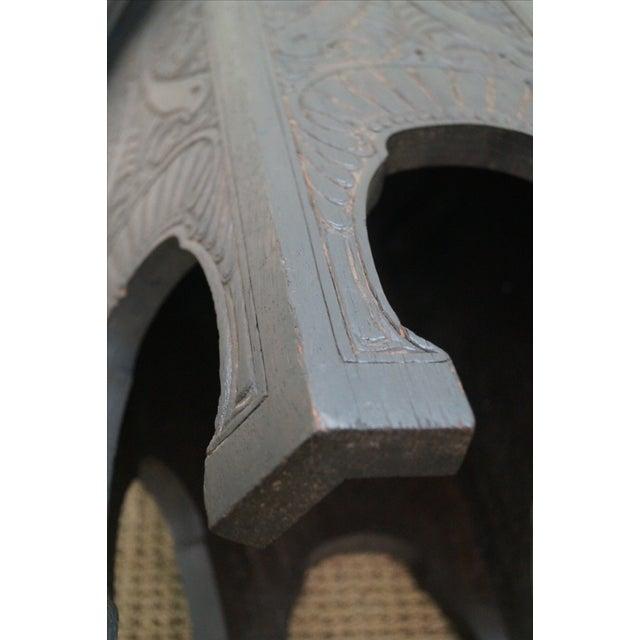 Antique Incised Carved Oak Taboret Side Table - Image 8 of 10