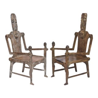 Pair of Large African Rootwood Armchairs, Late 19th to Early 20th Century