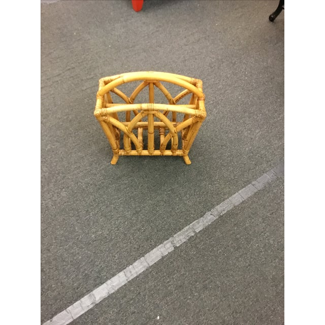 Image of Paul Frankl Rattan Magazine Stand