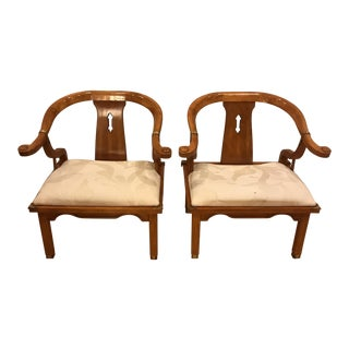 Vintage Ming Style Wooden Chairs - A Pair