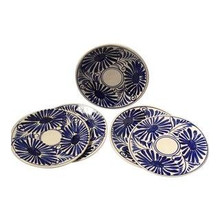 Mexican Talavera Sunflower Plates- Set of 5