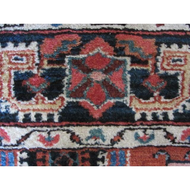 "Vintage Heriz Persian Rug - 4'7"" X 6'6""ft - Image 8 of 10"