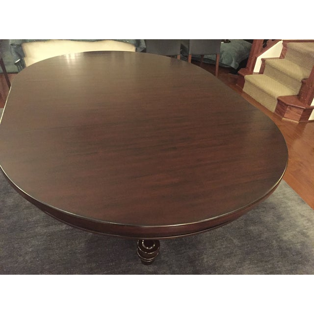 Pottery Barn Montego Chairs: Pottery Barn Montego Pedestal Extension Dining Table