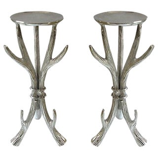 Antler Form Candle Holders - a Pair