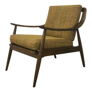 Danish Tweed Upholstered Lounge Chair