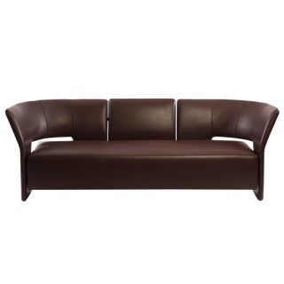 Erik Jorgensen Chocolate Brown Leather Pelican Sofa