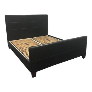 American Chocolate Brown Leather California King Bed