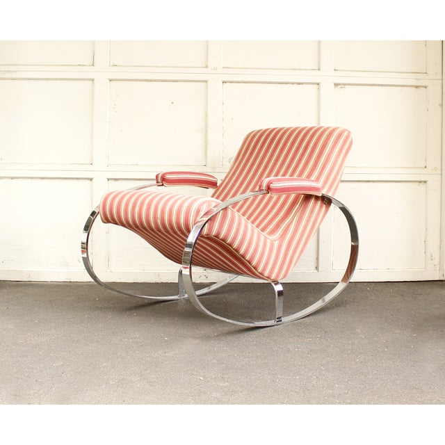Guido Faleschini Mid-Century Chrome Rocking Chair - Image 5 of 9