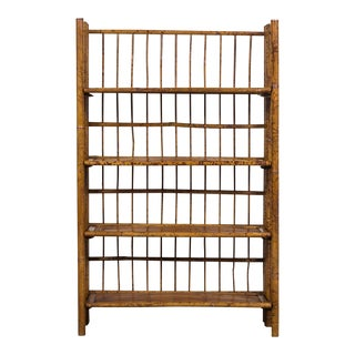 Antique French Bamboo Bookcase With Shelves circa 1895