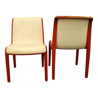 Knoll Bill Stevens Mid-Century Bentwood Side Chairs - A Pair