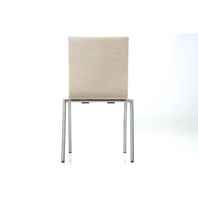 Danish Modern Brushed Steel Side Chair by Kvist - Image 5 of 11
