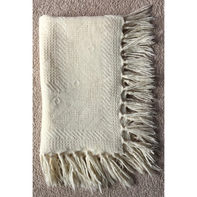 Vintage Wool Hand-Woven Child's Blanket - Image 5 of 5