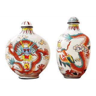 Chinese Dragon Snuff Bottles- A Pair