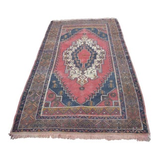 Handmade Turkish Rug - 4′7″ × 8′2″