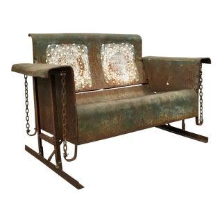 Antique Metal Glider Bench