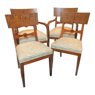 19th Century Newly Reupholstered Klismos Chairs - Set of 4