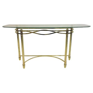 Hollywood Regency Gilt Demilune Console