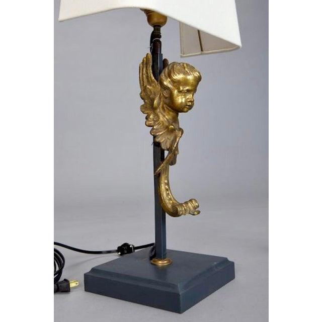 19th Century Italian Bronze Puti Cherub Table Lamps - A Pair - Image 4 of 5