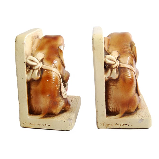 1944 Pd & Co Chalkware Elephant Bookends - Pair - Image 3 of 5