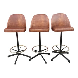 Cosco Mid-Century Swivel Bar Stools - Set of 3