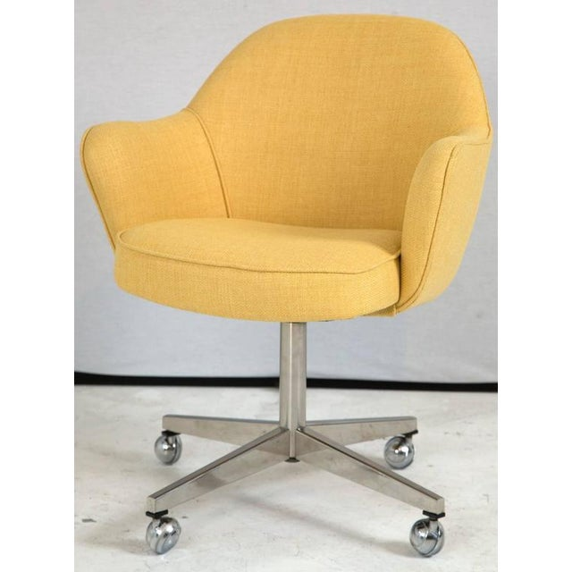 Knoll Desk Chair in Yellow Microfiber - Image 2 of 9