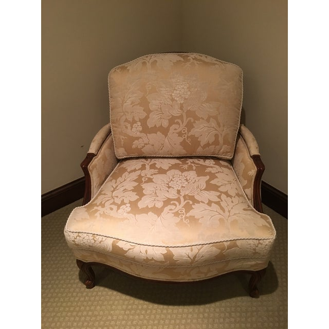 Ethan Allen Bergere Chair With Ottoman Chairish