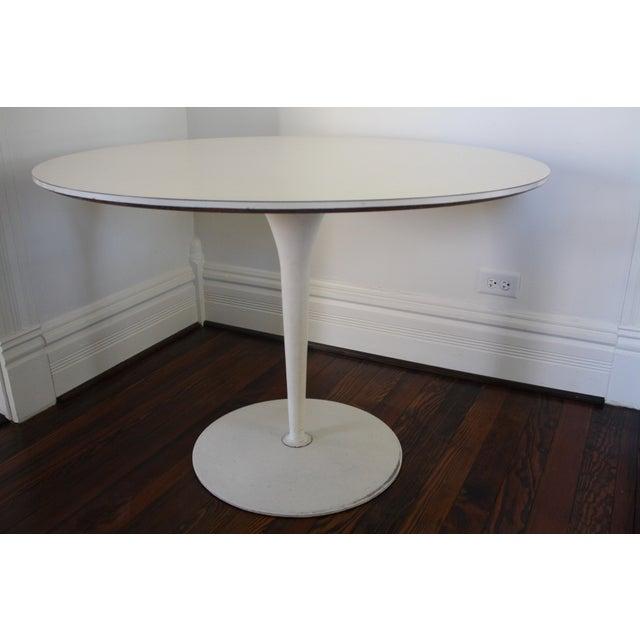 Vintage Saarinen Style White Tulip Dining Table - Image 3 of 11