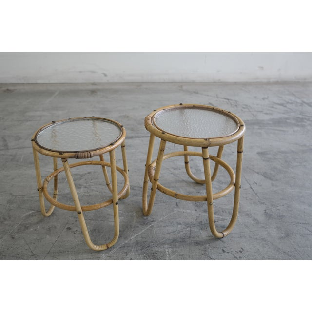 Mid Century Danish Rattan Plant Stands - Image 2 of 6