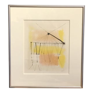 1960s Anita Simpson Watercolor and Ink Abstract
