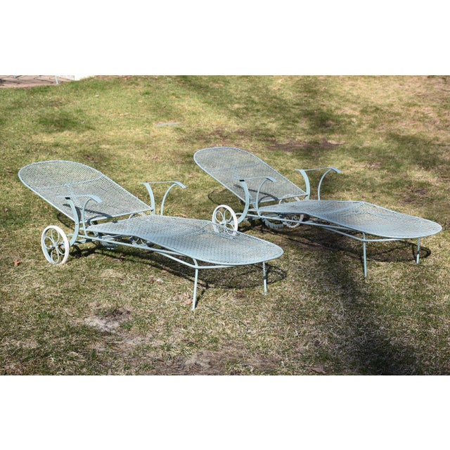 Russell Woodard Sculptura Patio Chaise Lounges - A Pair - Image 3 of 11