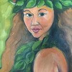 Image of Original Acrylic Painting of a Hawaiian Beauty