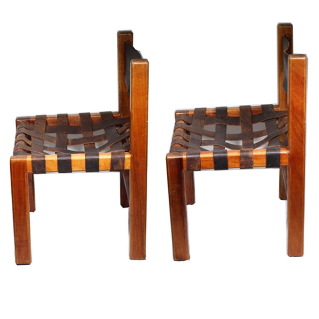 1950s Studio Craftsman Leather Chairs - A Pair - Image 2 of 8