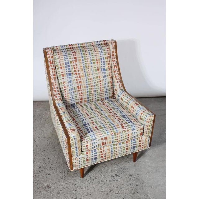 Mid-Century American Modern Lounge Chair with Walnut Border - Image 2 of 9