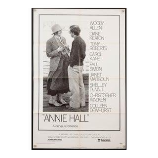 """Original vintage 1977 """"Annie Hall"""" Woody Allen Diane Keaton film poster"""
