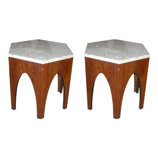 Harvey Probber Hexagonal Occasional Tables - a Pair