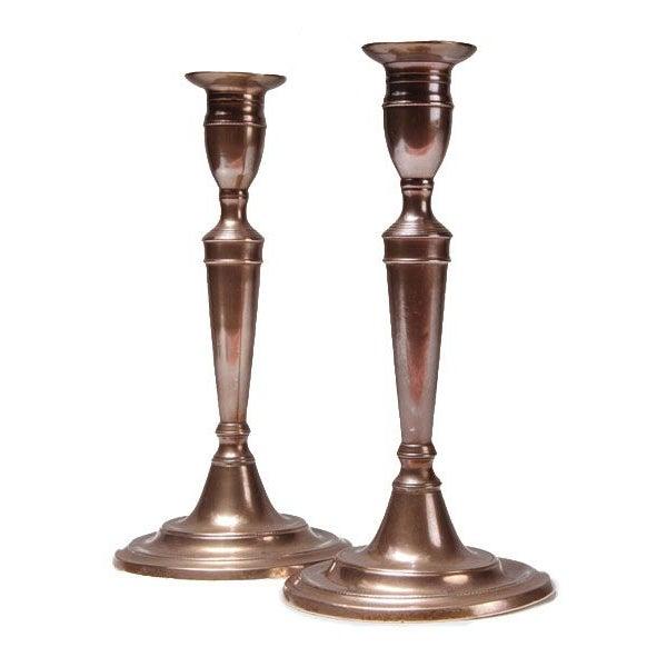 Image of 18th Century English Bell Metal Candlesticks