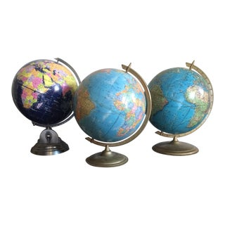 Mixed Group of Globes - Set of 3